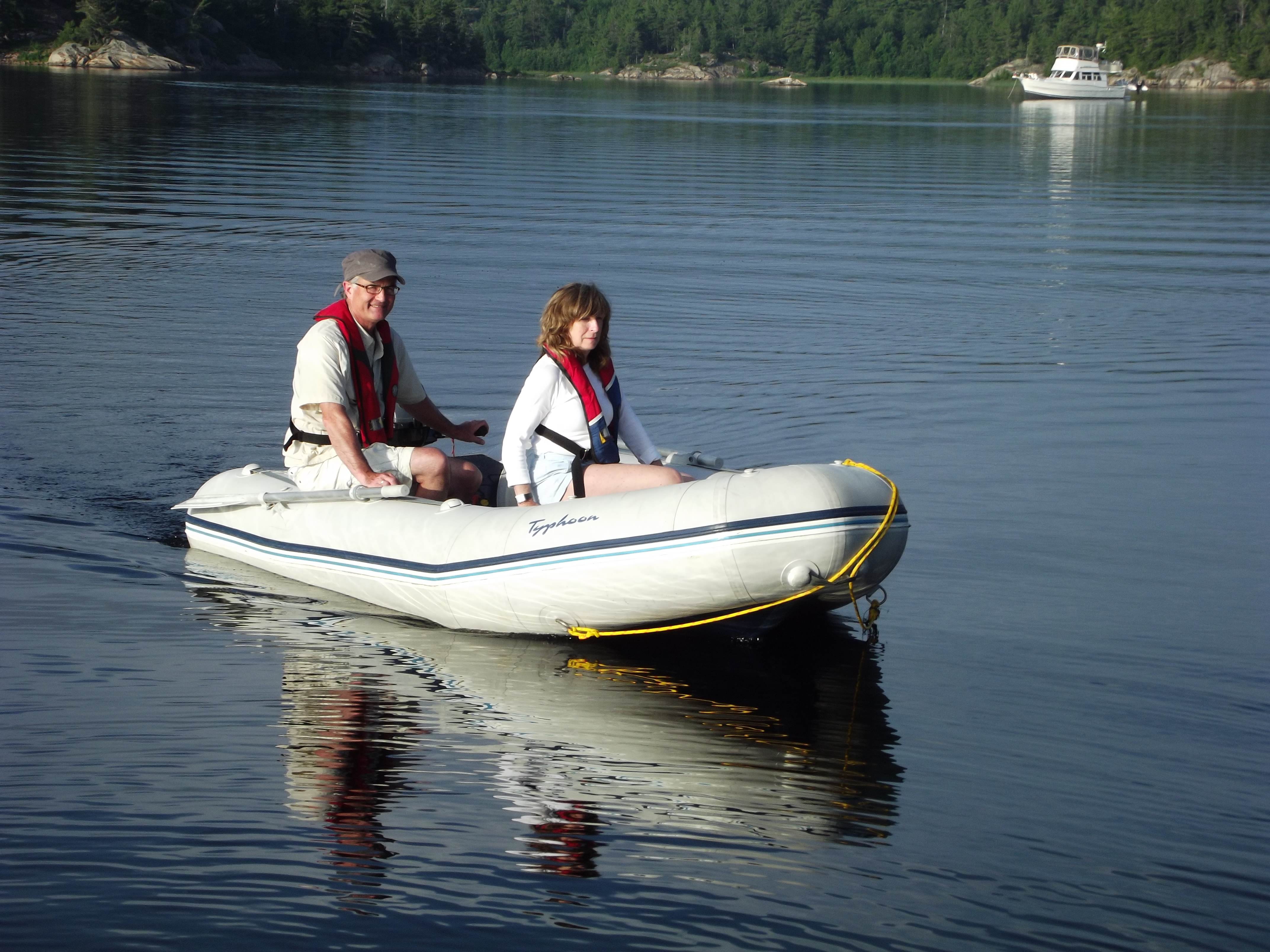 Be considerate when using a dinghy in a busy anchorage