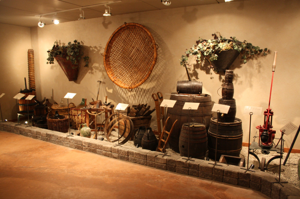 A portion of the wine history museum at Rockway Vineyards