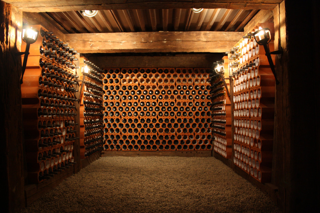 Wine cellar tucked away at Rockway Vineyards