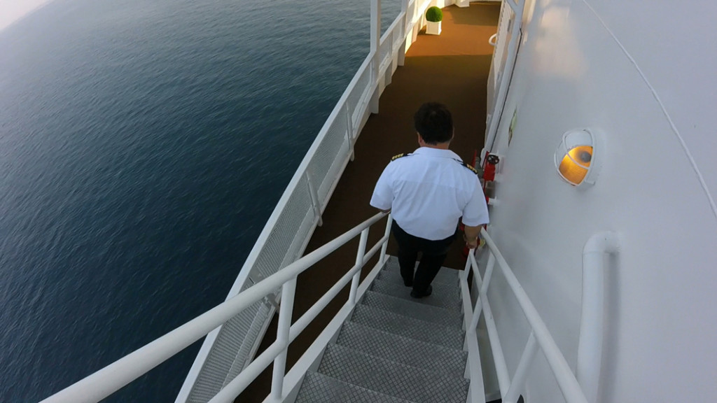 Following Staff Captain Velkov to the engine room