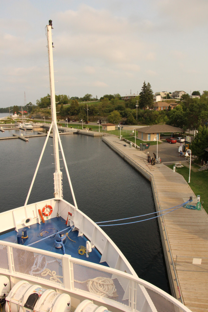 Moored in Little Current on Manitoulin Island, Ontario