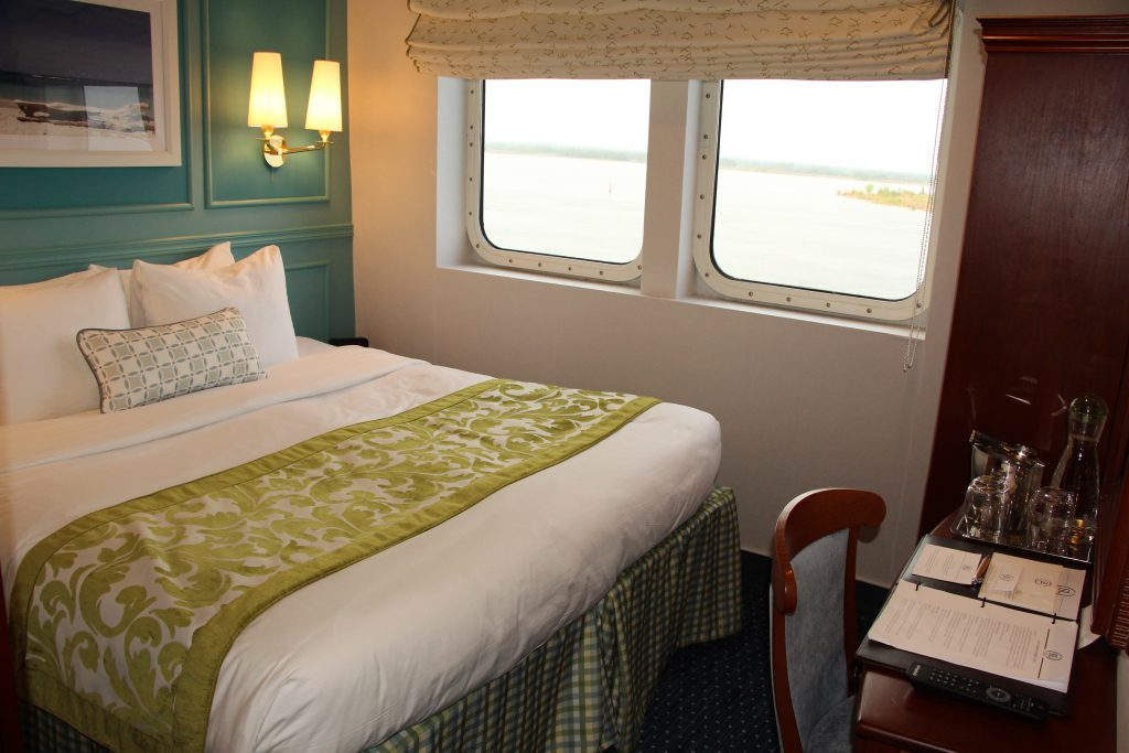 A standard cabin - even the smallest ones are elegant