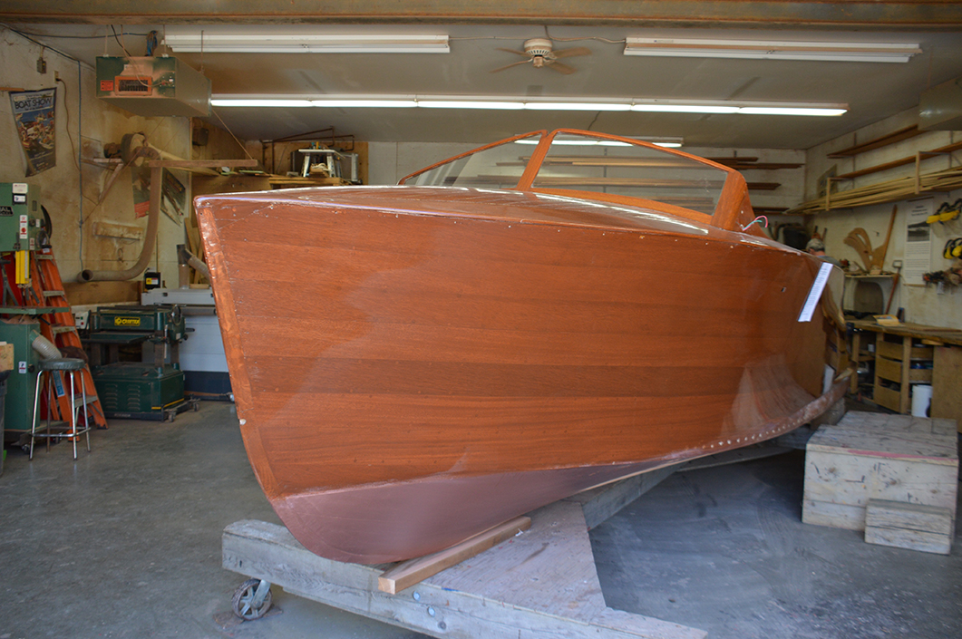 A new hull and refinish at Curtis Hillman's