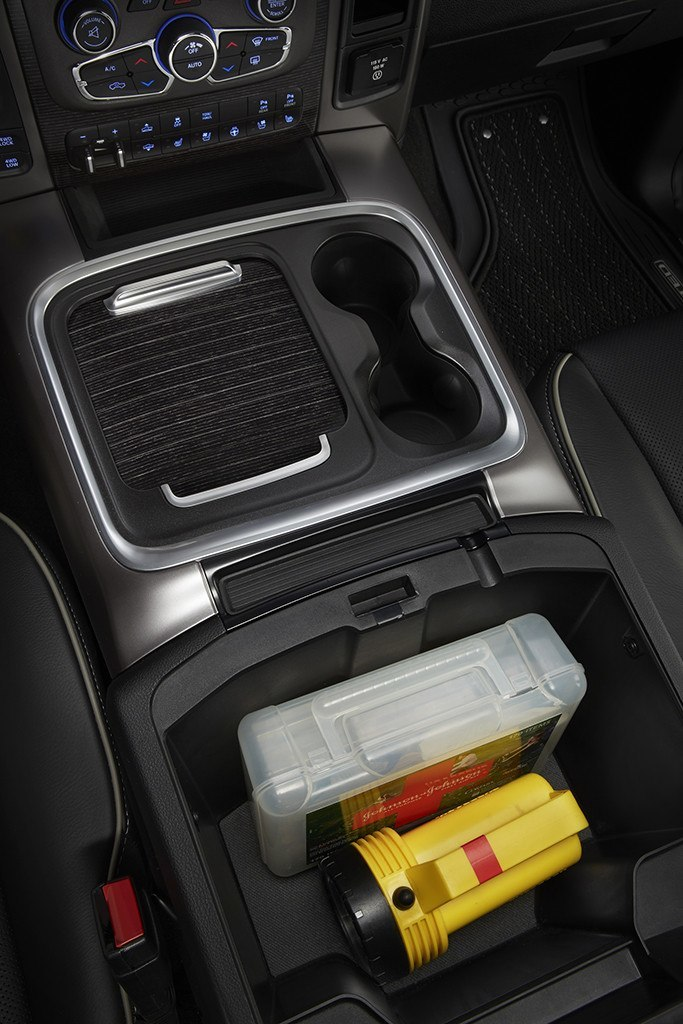 Ample storage in the Ram console