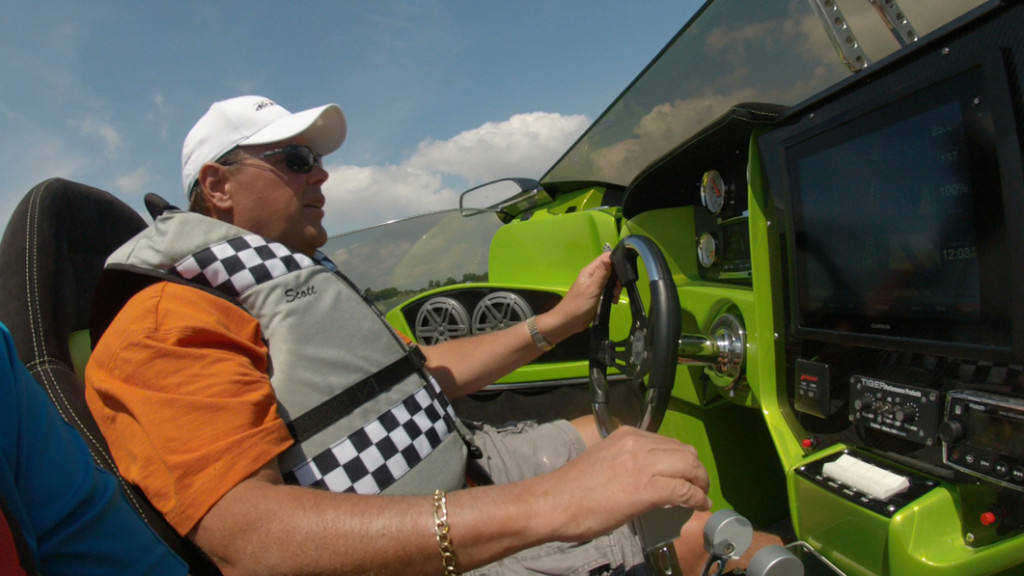 At the helm of the 4000 Roadster