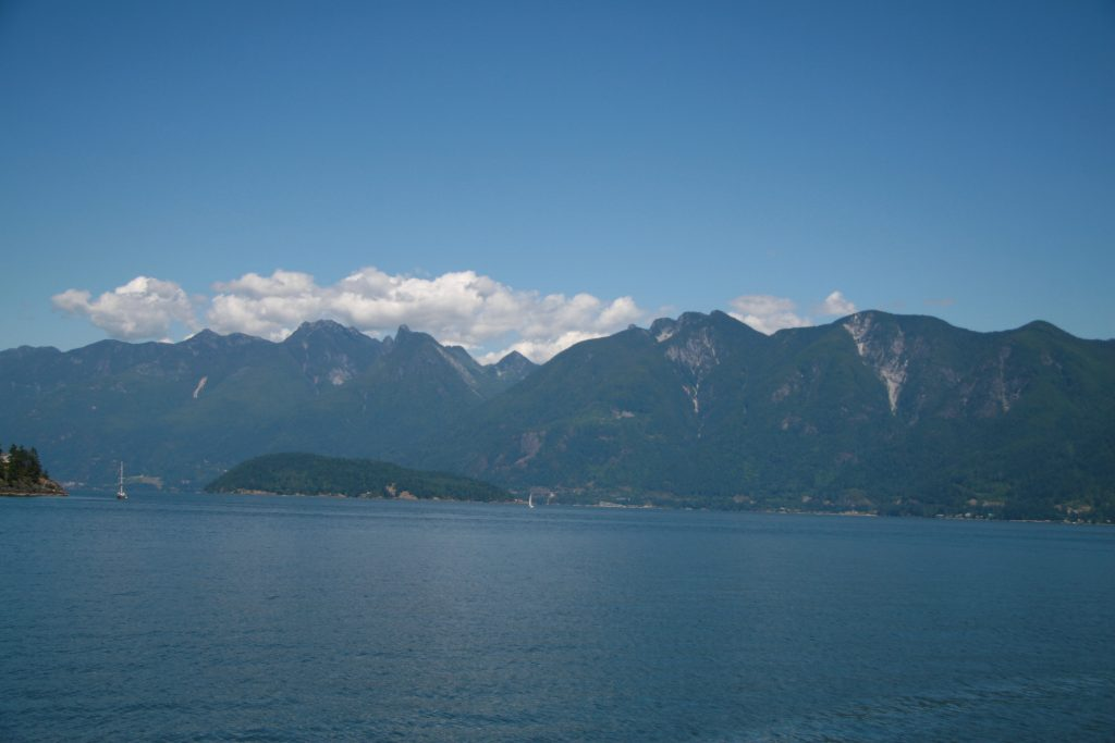 Crossing Howe Sound from Vancouver