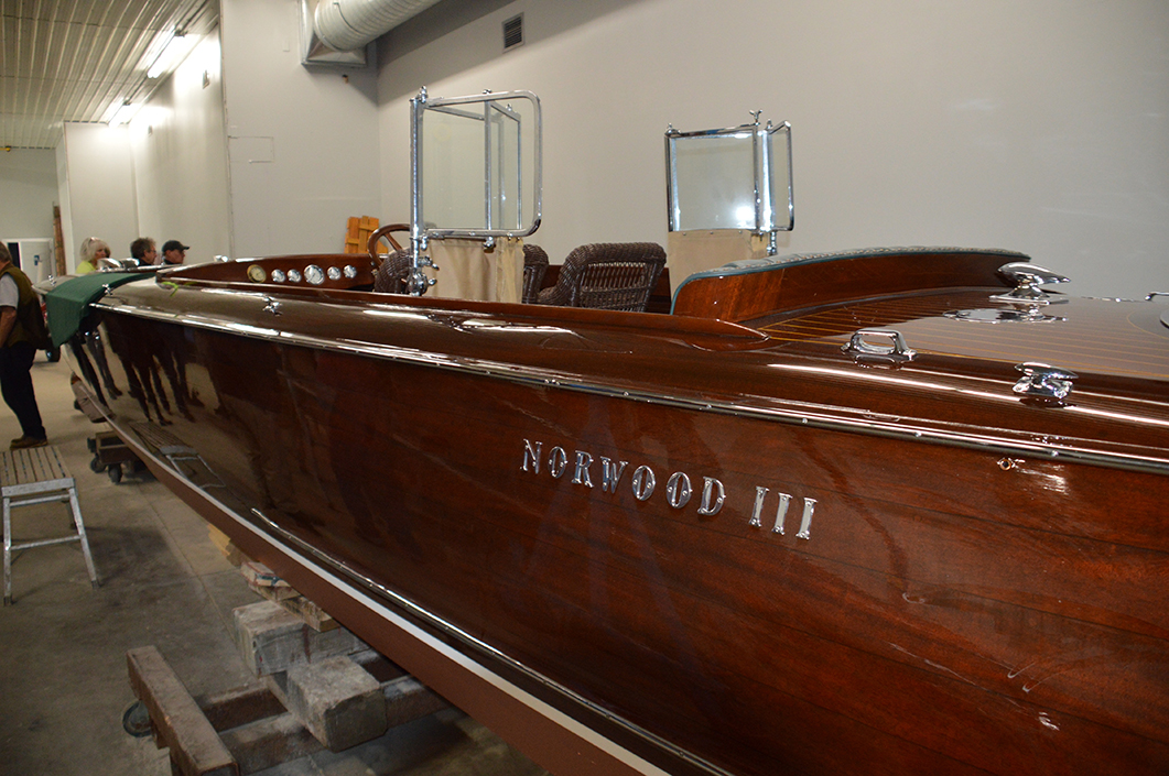 A 1925 Minett-Shields ready to leave Windsor Boat Works